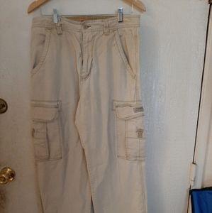 Unionbay tan cargo pants 34x32